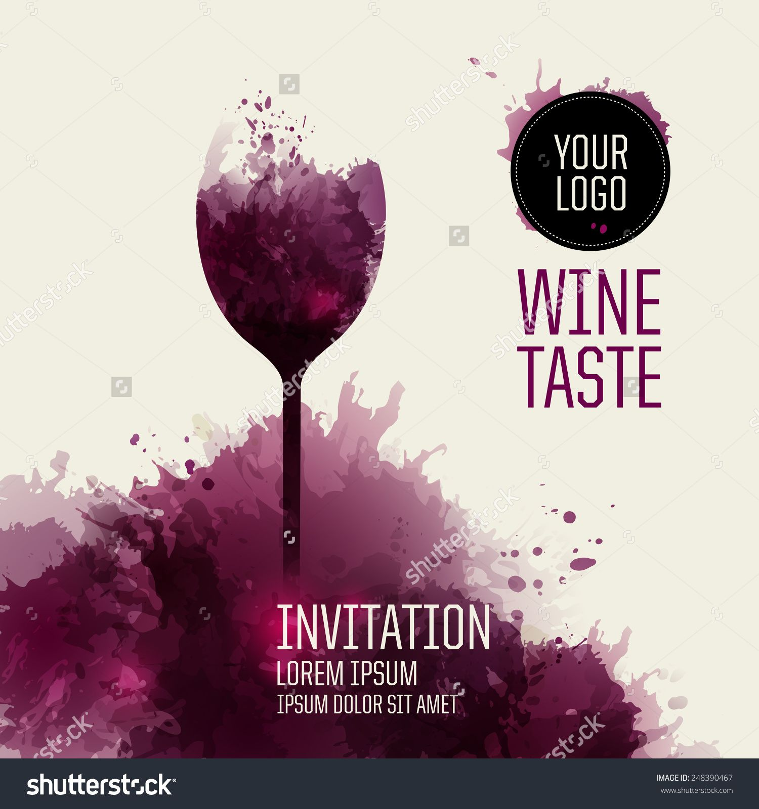stock-vector-invitation-template-for-event-or-party-suitable-for ...
