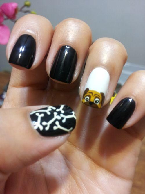 Pug Nails | Pug Life | Pinterest | Diseños de uñas, Mascotas y Manicuras