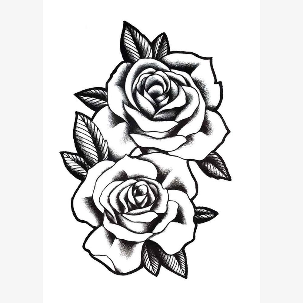 MX-1245 Temporary Tattoo Sticker 15*21 CM(5.9*8.2 IN) | Flower wrist tattoos, Rose tattoos on ...