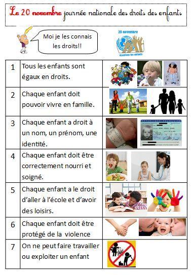 Les droits des enfants   CE1-CE2   Fiche de préparation