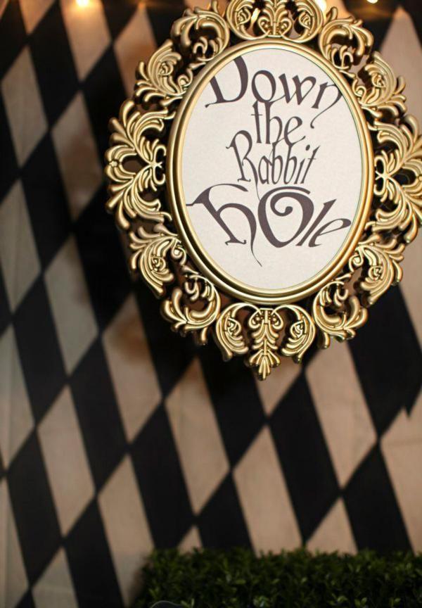Midnight Alice in Wonderland Tea Party Birthday Party Theme Disney Tim Burton 30th Adult