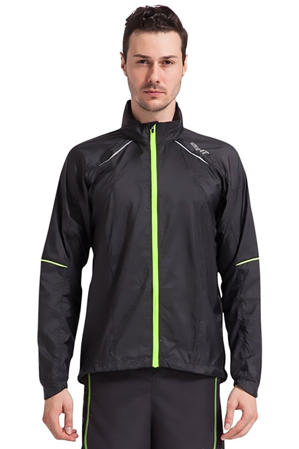 Men S Ultra Light Activewear Jacket With Light Reflective Material And Earphone Loops Black Cx17 Activewear Jackets Mens Lightweight Jacket Active Wear [ 1500 x 1000 Pixel ]