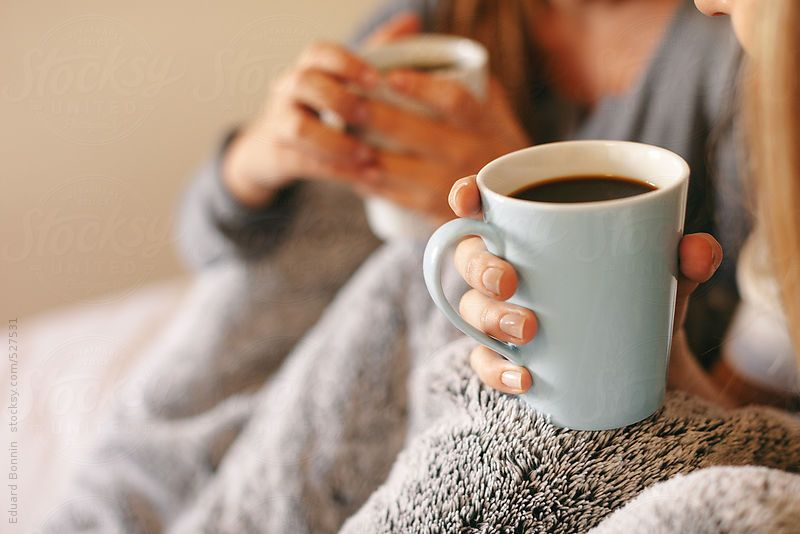 Two Roommates Warming With Cozy Blanket Drinking Coffee At Morning By Bonninstudio Stocksy United Coffee Addict Healthy Coffee Coffee Drinks