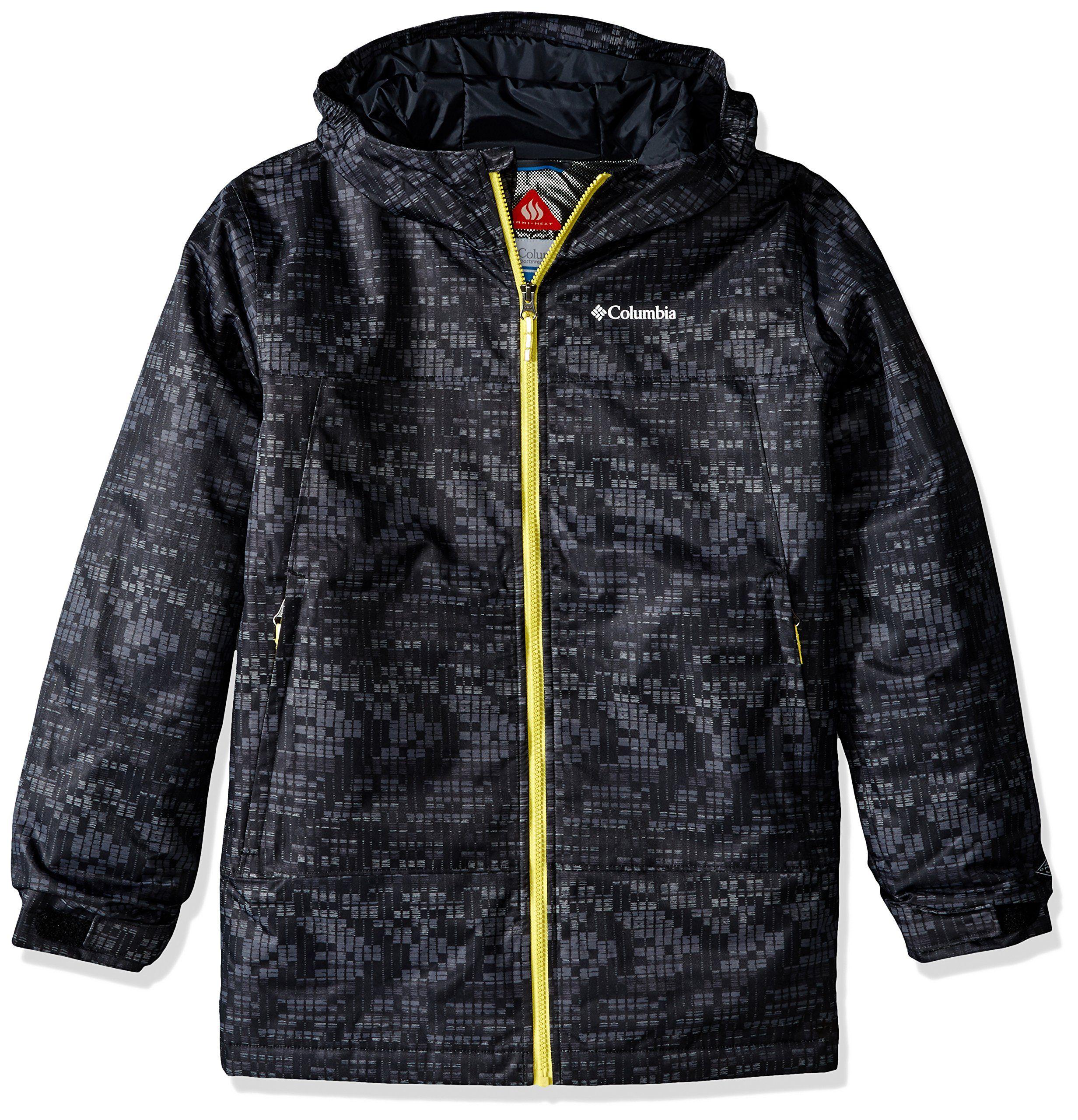 Columbia Boys Wrecktangle Jacket Large Black Matrix Print Omni Heat Thermal Reflective Wind Proof Insulated 100gsm Jackets Hooded Jacket Athletic Jacket [ 2560 x 2464 Pixel ]