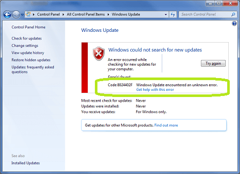 How To Fix Windows Update Error 8024402F | Pins from XtremeRain