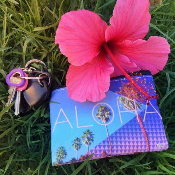 Aloha Coin Purse by mickisalazar on Etsy