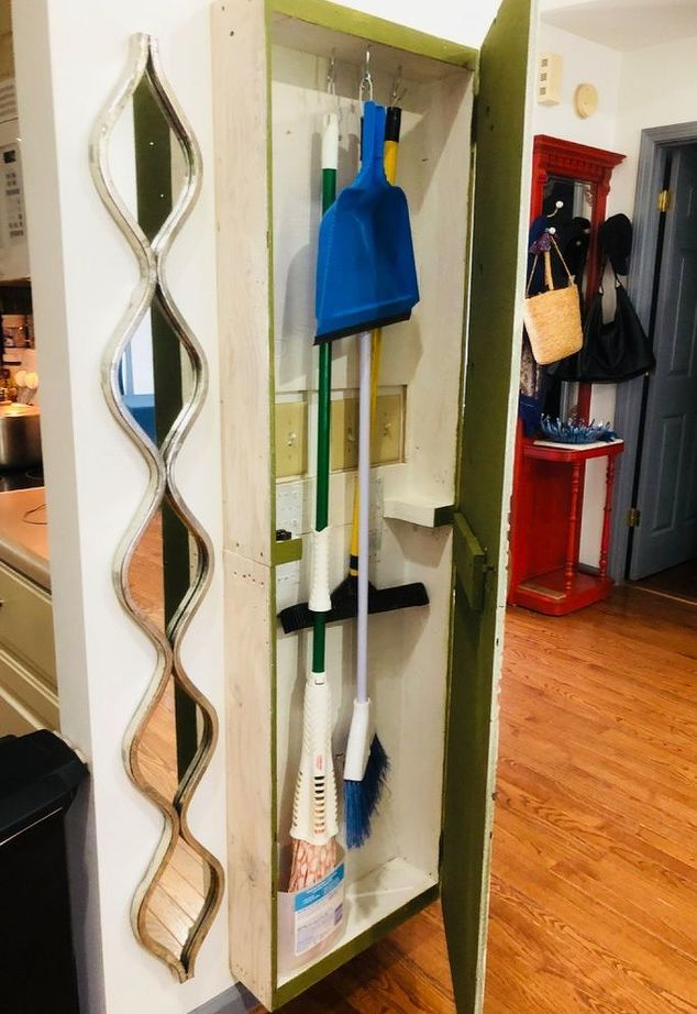 Broom Amp Mop Cabinet Laundry Rooms Broom Storage