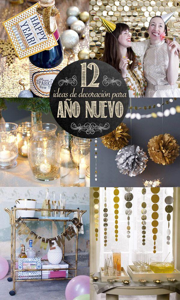 12 ideas de decoraci n para a o nuevo ideas pinterest holidays manualidades and navidad - Ideas decoracion navidad manualidades ...