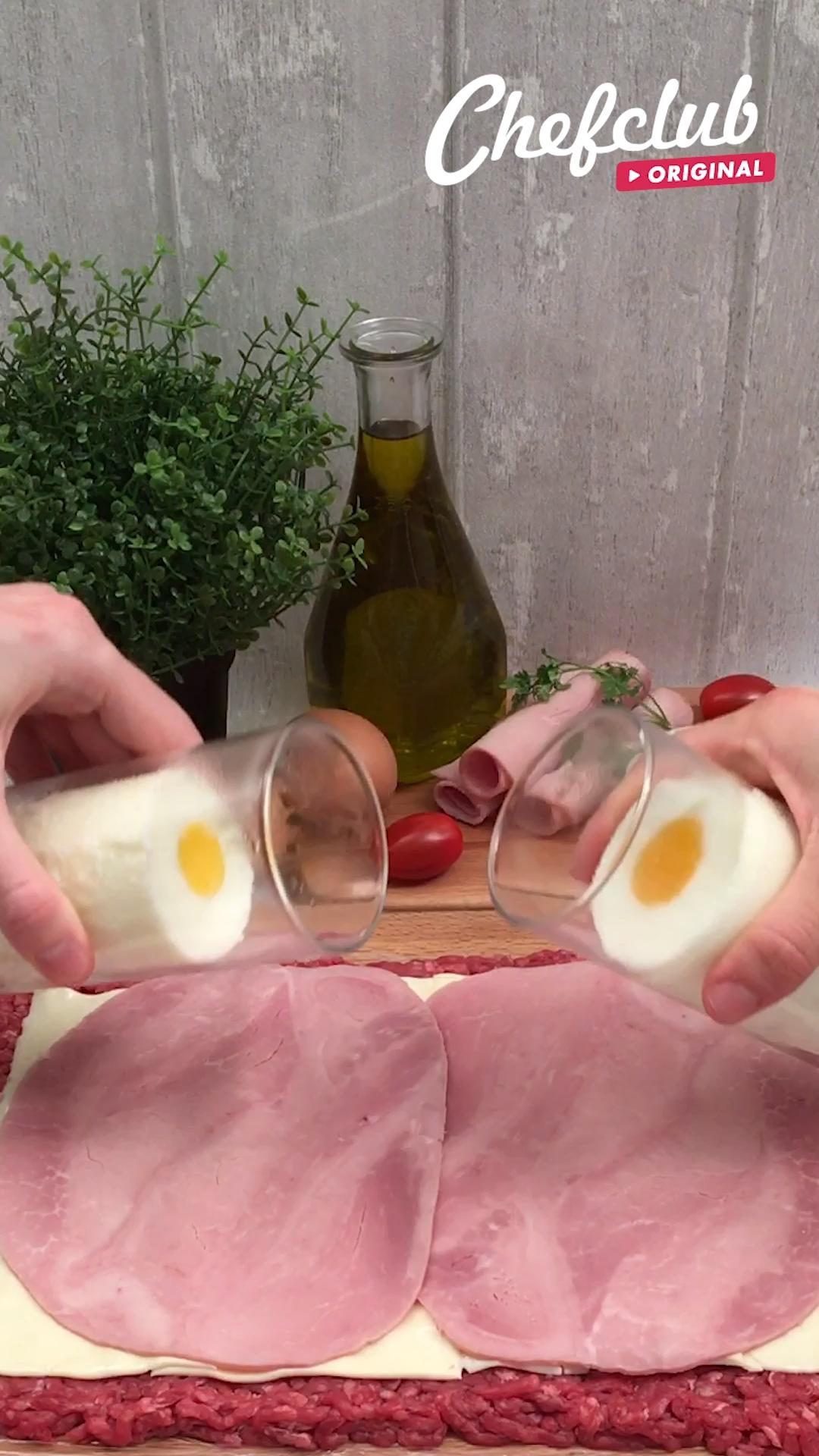 Leckere Hackfleisch-Rolle, wie Sie sie noch nicht getestet haben!  #Rezepte #Hackfleisch #Eier