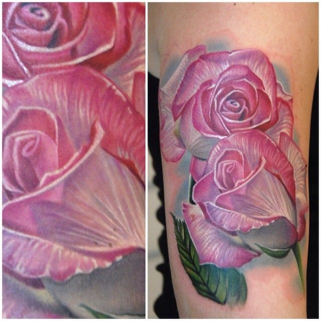 Stunning roses in progress by Phil Garcia