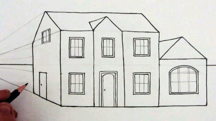 Pin By Amberly On Drawings In 2019 Simple House Drawing