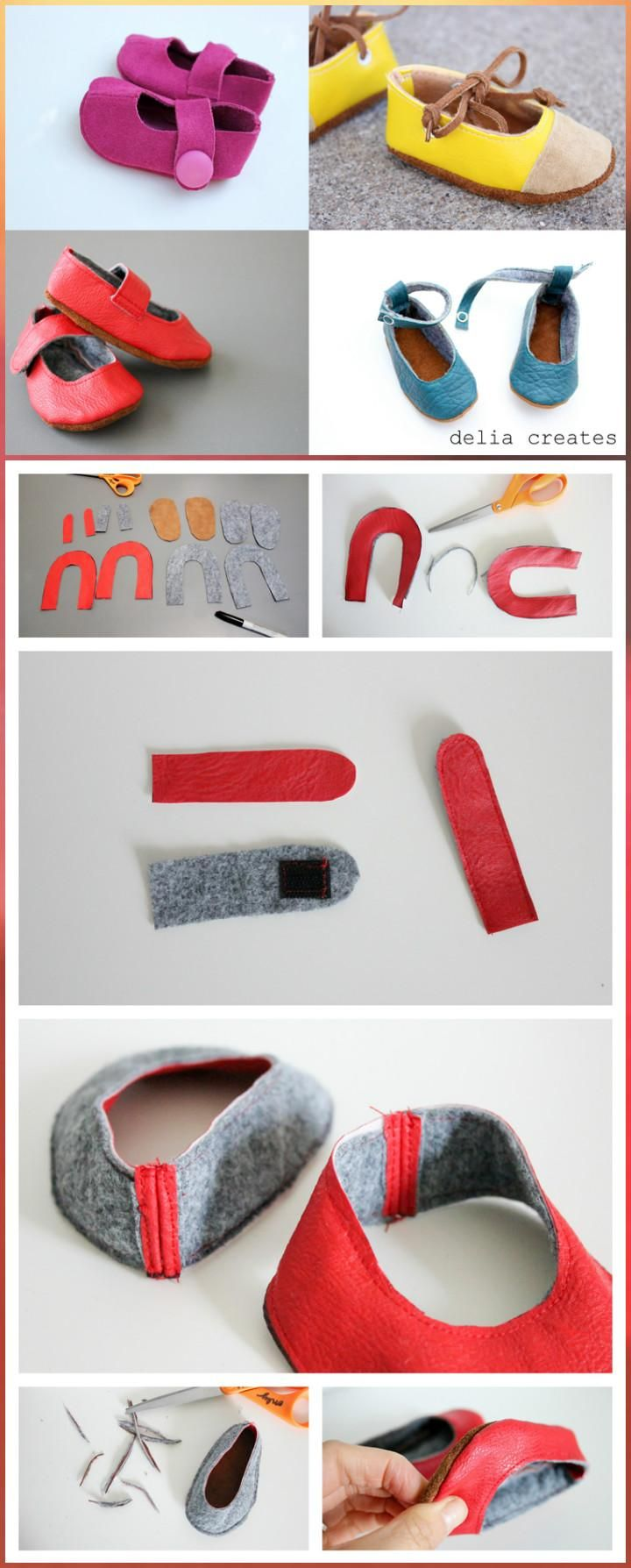 55+ DIY Baby Shoes with Free Patterns and Tutorials | Zapatos de ...