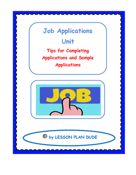 Career Completing Job Applications Sample Applications Career