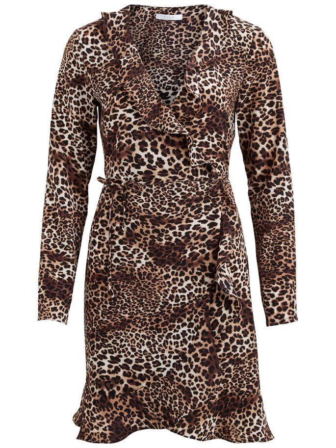 Vikacy Leopard Leopard Vikacy Wrap Printed Wrap Dress Printed Dress P7zqPp