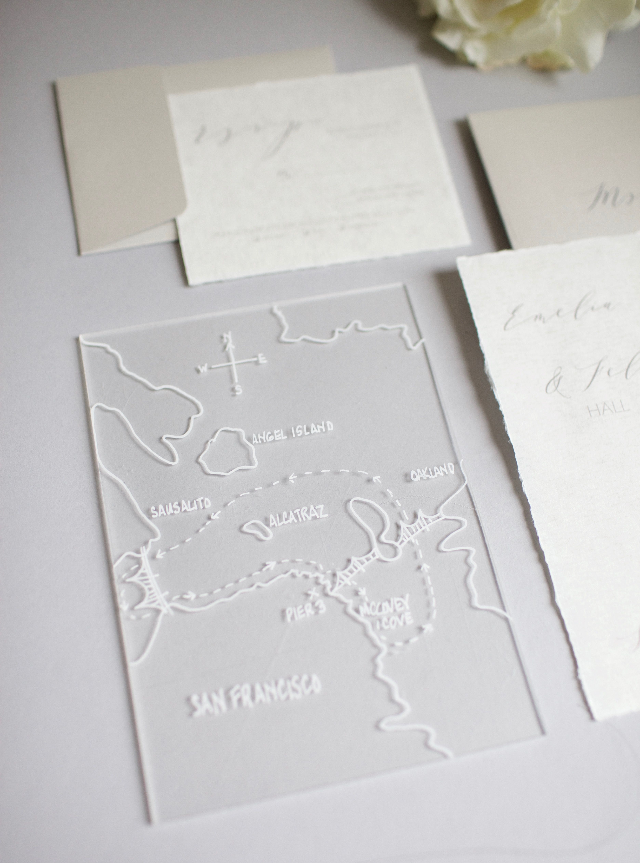 Hand painted Acrylic Map keepsake. Wedding invitation art insert ...