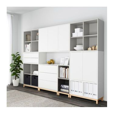 eket cabinet combination with legs white light grey dark grey ikea design pinterest. Black Bedroom Furniture Sets. Home Design Ideas