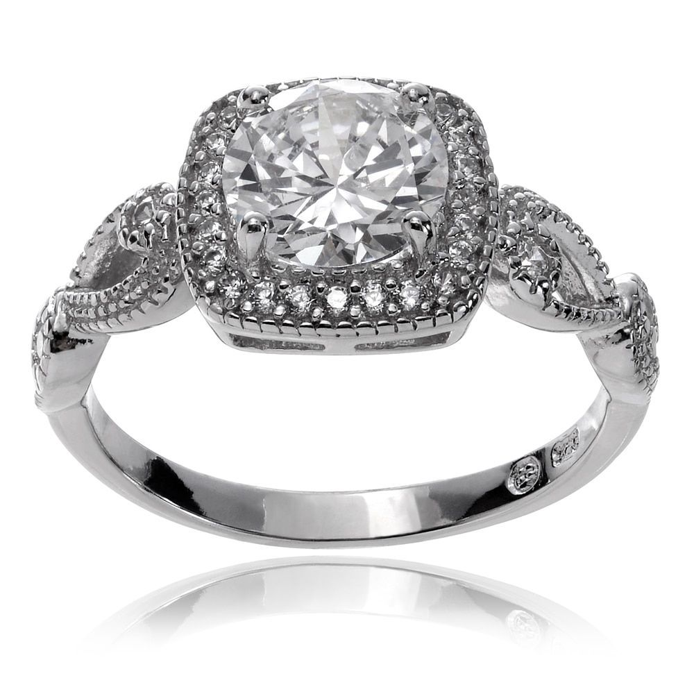 Journee collection sterling silver cubic zirconia square