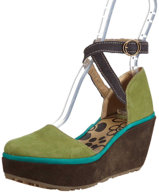 676f4161a4cc1d Fly London Womens Penn Pistachio/Indigo/Peackok/Sludge Platforms Heels  P500397000 7 UK: Amazon.co.uk: Shoes & Accessories