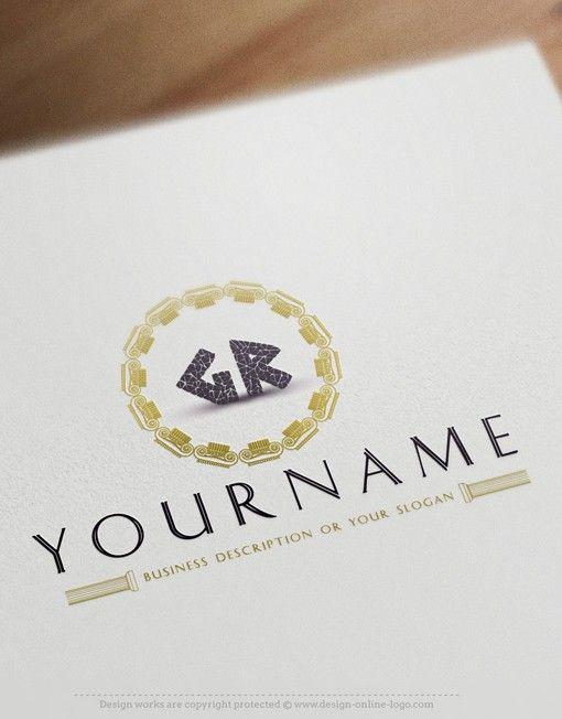 alphabets initials Greek Logo design Free Business Card Design, Free Business Cards, Alphabet Company