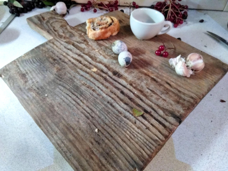 Antique Primitive Wooden Chapati Bread BoardRiser