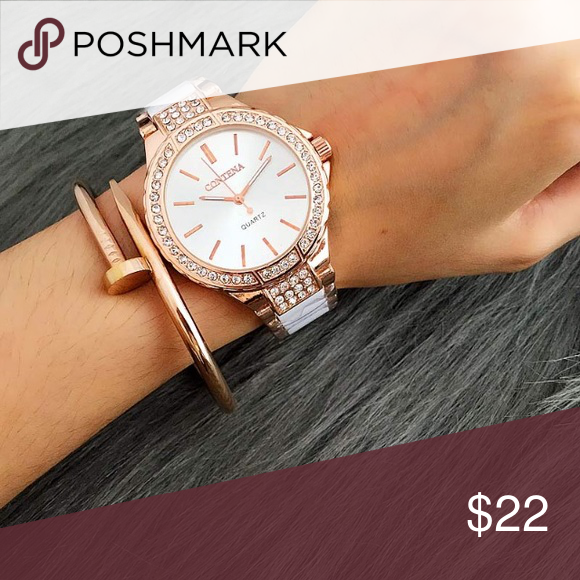 Maci Quartz watch stainless steel rosegoldsilver