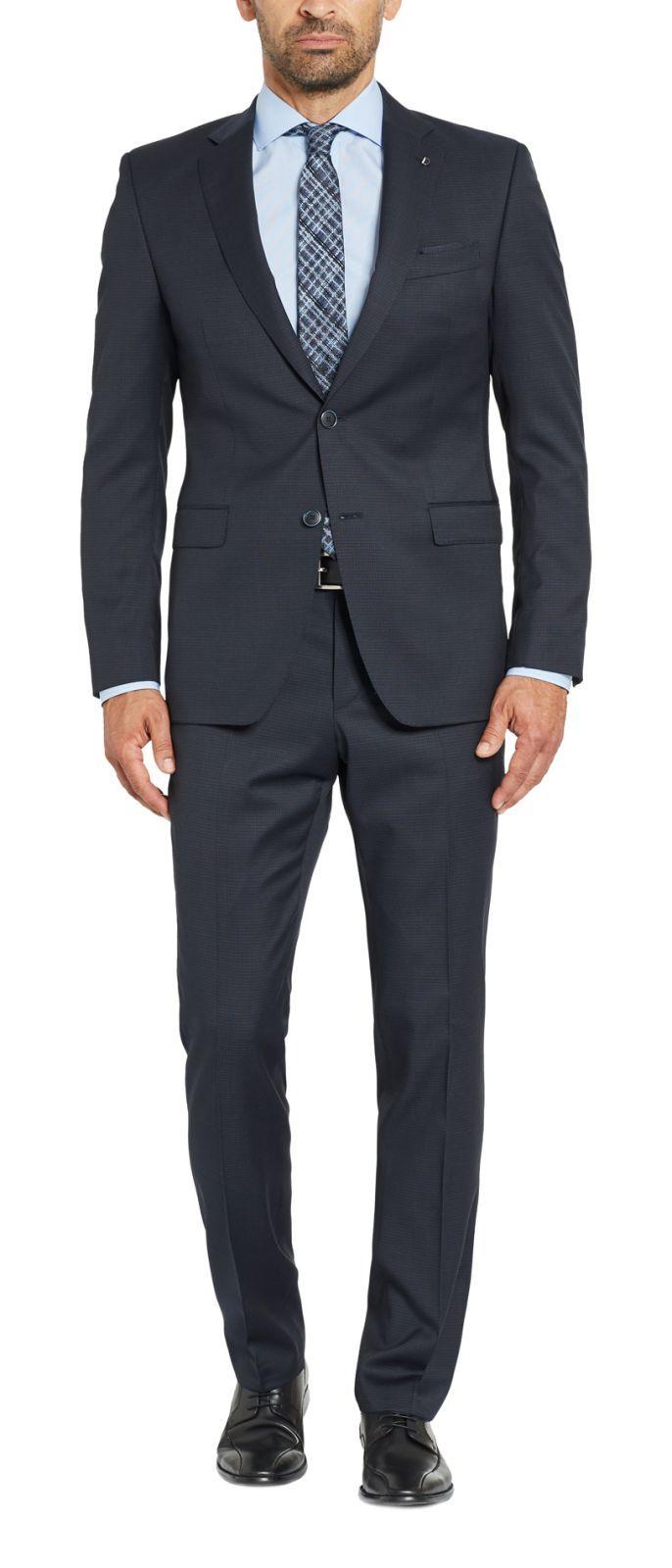 039b13f9a3 Dark blue micro design Digel drop dress six modern fit wool Reda 110 ' s