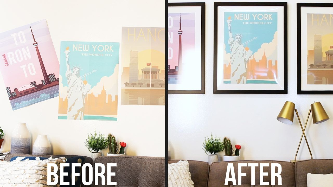 Upgrade Your Poster With A Custom Mat & Frame Custom