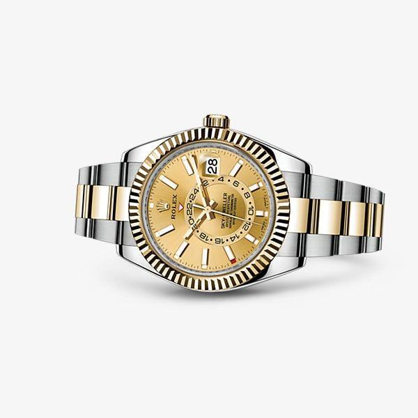 b624444a1ae Descubra o relógio Sky-Dweller em Rolesor amarelo - combinação de aço 904L  e ouro amarelo 18 quilates no Site Oficial Rolex. Modelo  326933