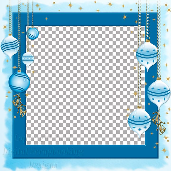 "Layout QP 7B.....Quick Page, Blue, Digital Scrapbooking, Christmas Time Collection, 12"" x 12"", 300 dpi, PNG File Format"