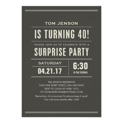 Surprise 40th Birthday Invitations Today Price Drop And Special Promotion Get The Best BuyDiscount Deals Online Secure