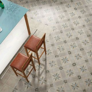 SomerTile 9.5x9.5-inch Campania Star Blue Porcelain Floor and Wall Tile (Case of 16) | Overstock.com Shopping - The Best Deals on Floor Tiles