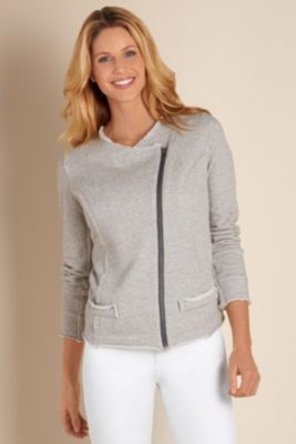 Asymmetric Zip Jacket - Womens Asymmetrical Jacket, Womens Moto Style Jacket | Soft Surroundings