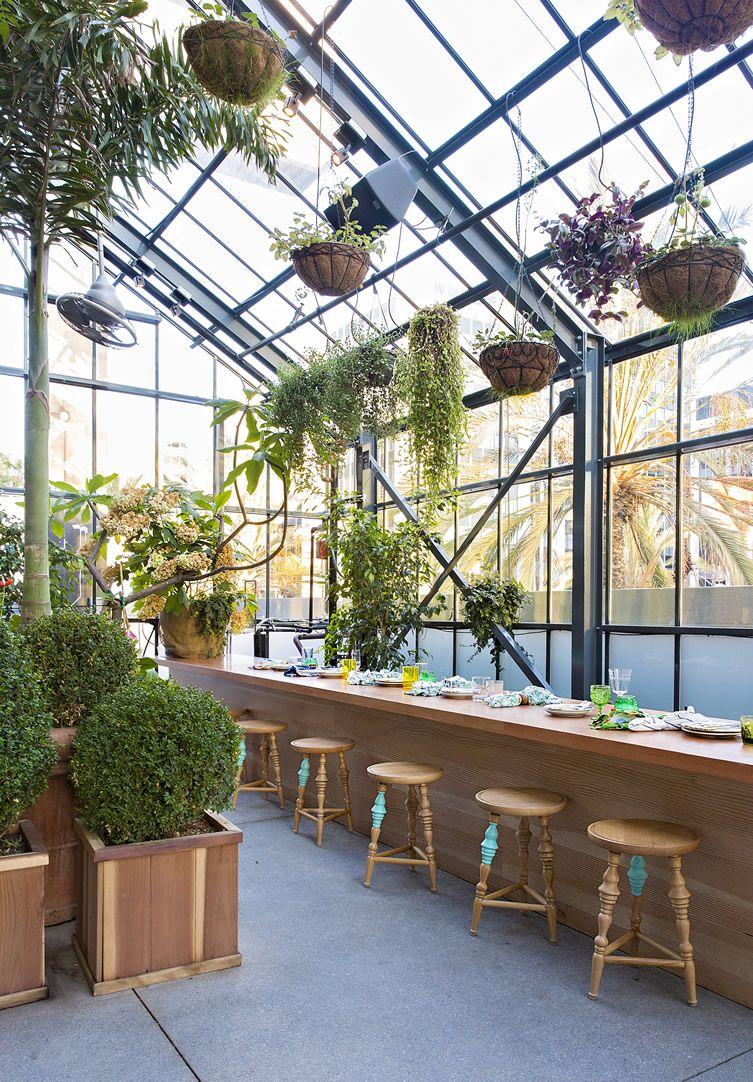 Greenhouse restaurant, Glass restaurant, Greenhouse cafe
