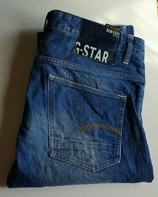 622b3ff5077 G-STAR RAW GS01 Men s Blue Jeans Trousers Size W32 L32