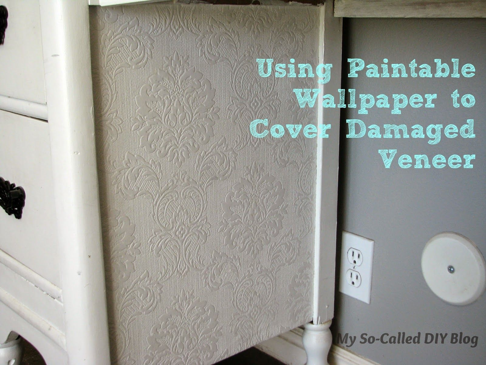 cover my furniture. Cover My Furniture. So-Called DIY Blog: Using Paintable Wallpaper To Furniture
