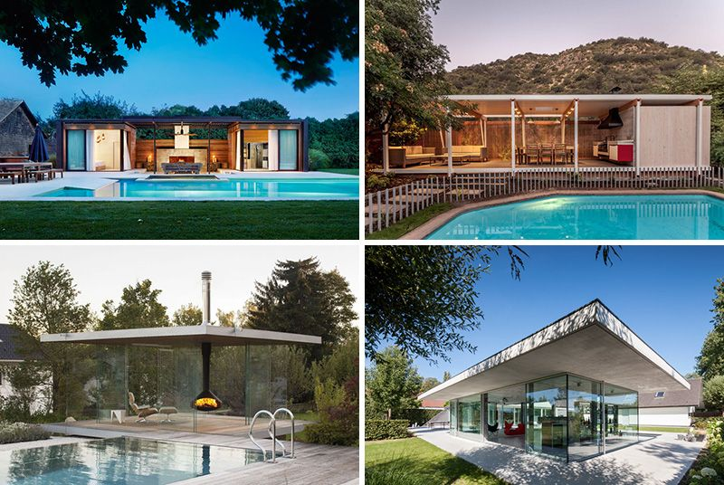 11 Modern Pool Houses To Get You Inspired For Summer Modern Pool House Pool Houses Modern Pools