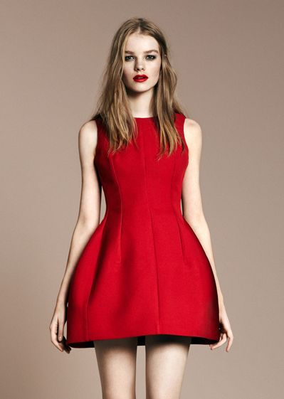Red tulip dress - Zara