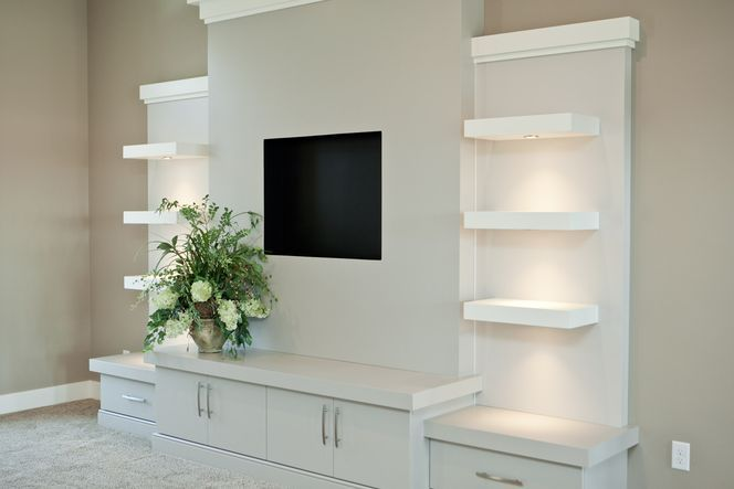Built-in Entertainment Center With Shelves
