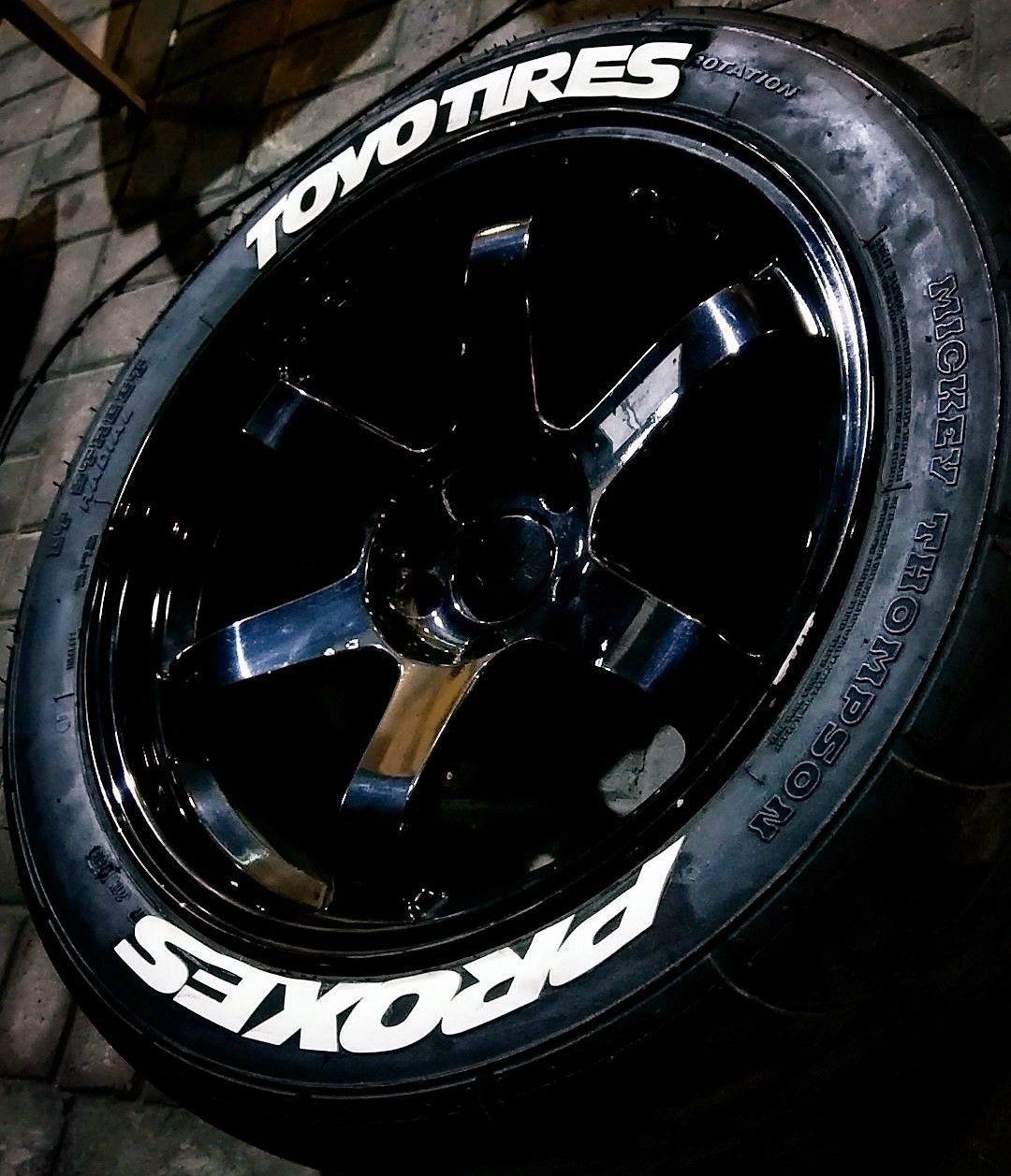 Toyo Tires White Letters >> 0 75 Toyo Tires Proxes Rubber Permanent Tire Letter 8 Pcs