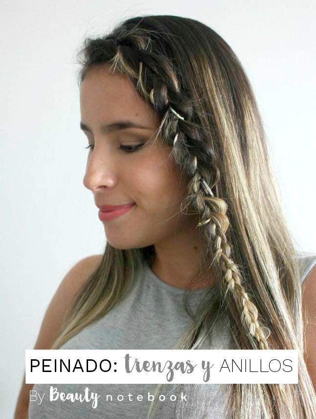 Tutorial de peinado: Trenzas y anillos en el pelo