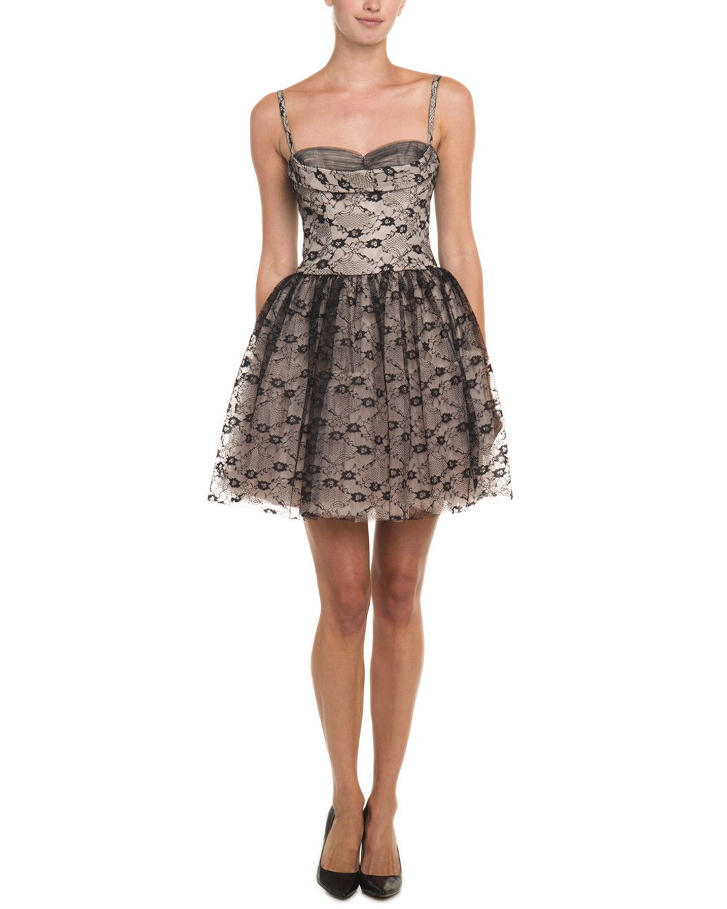 Spotted this RED Valentino Black & Beige Lace Dress on Rue La La. Shop (quickly!).