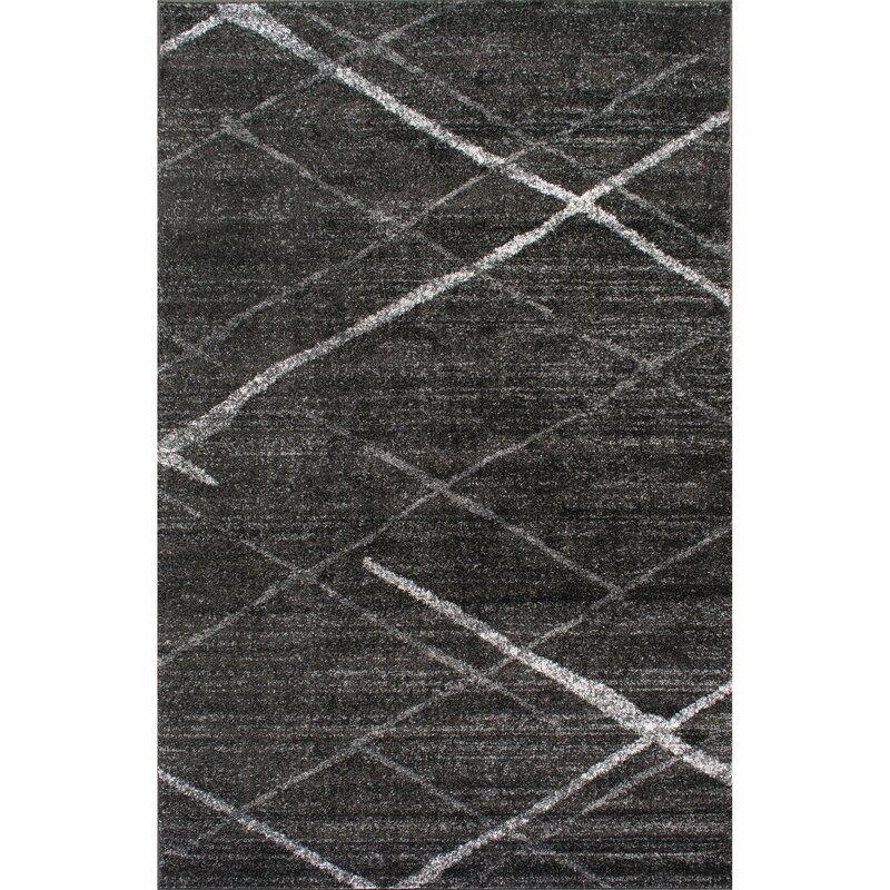 Mercury Row Stahlman Power Loom Grey Rug Reviews Wayfair Grey Rugs Dark Gray Area Rug Grey Carpet