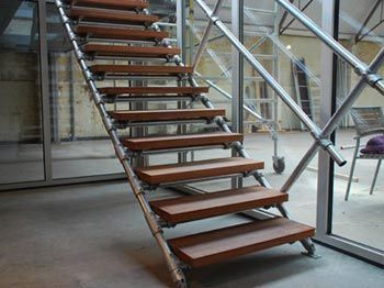 Genial Image Result For Steel Pipe Scaffolding Stair