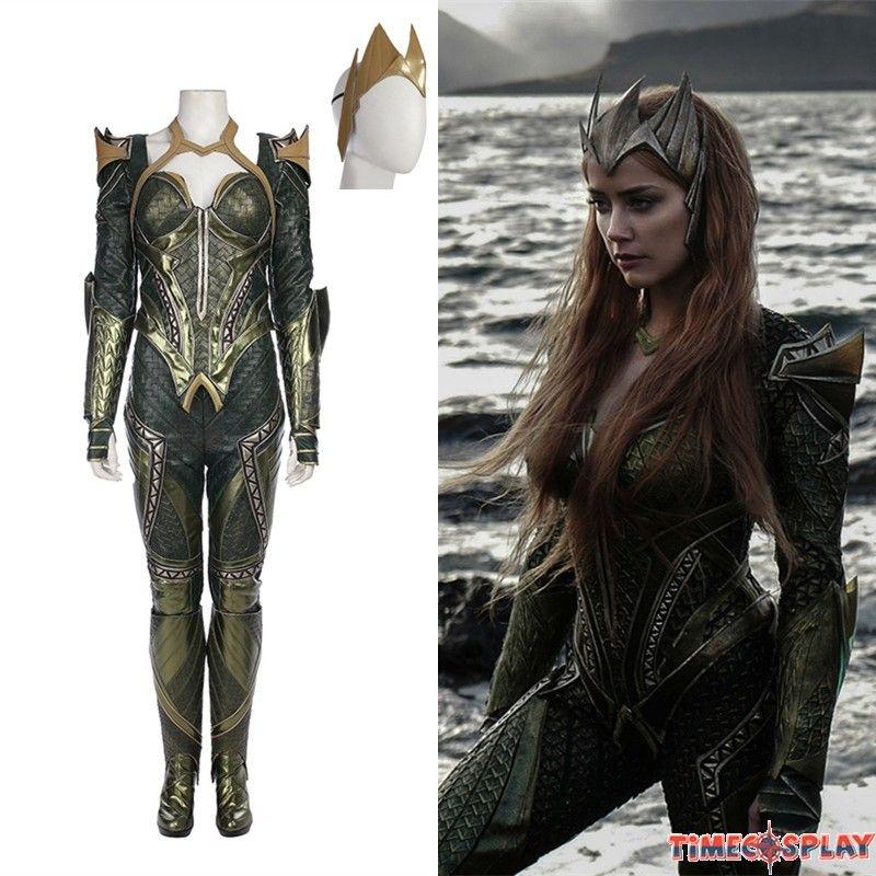 Justice League Mera Costume Deluxe Cosplay Outfit Cosplay Outfits Warrior Costume Outfits