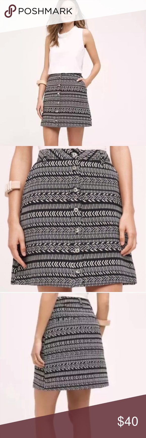 69510f8c83 Anthro's Maeve Tribal Button Skirt Adorable A-line button down tribal print  skirt from Anthropologie's