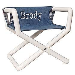 Superb Hoohobbers Personalized Kids Director Chair In Denim Colors Is A Toddlersu0027  Dream, A Chair