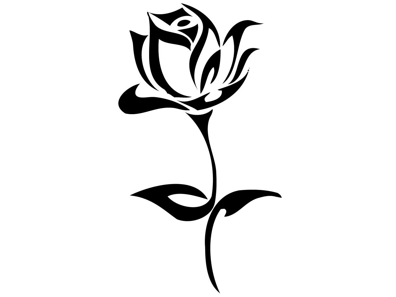 Tribal Rose Tattoo Design - Tattoo Ideas