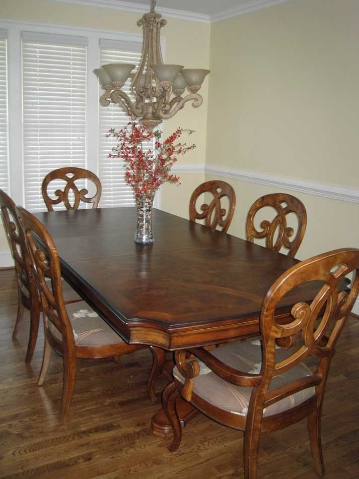 Thomasville Furniture Rivage Dining Room Double Pedestal Table W Custom Bases