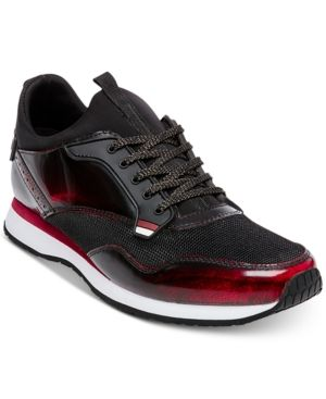 ece87bc4a63 Steve Madden Men's Golsen Lace-Up Sneakers - Black/ Red 11.5 ...