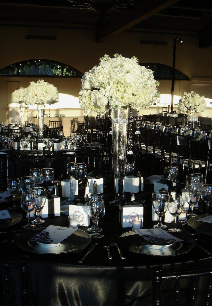 The Bridges Very Elegant Black White Silver Wedding
